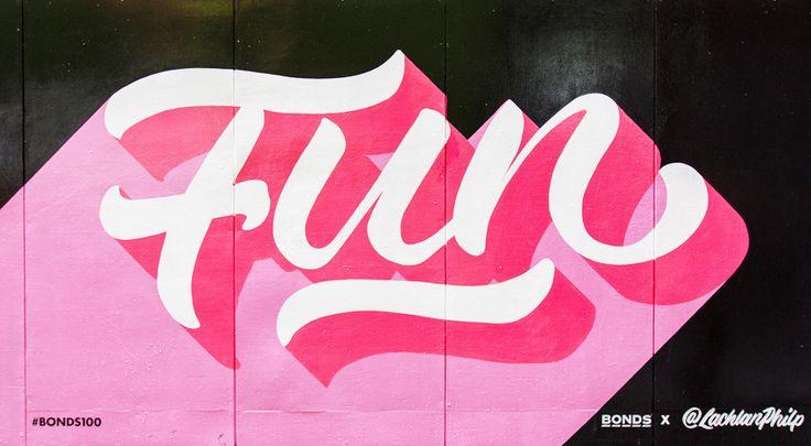 Bonds 100 - Fun Mural by  Lachlan Philp