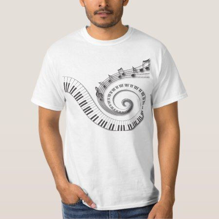 Piano Keys Music Notes T-Shirt - tap, personalize, buy right now!