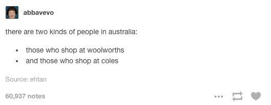 On the two kinds of Australians: | 47 Times Australians Nailed It On Tumblr In 2015