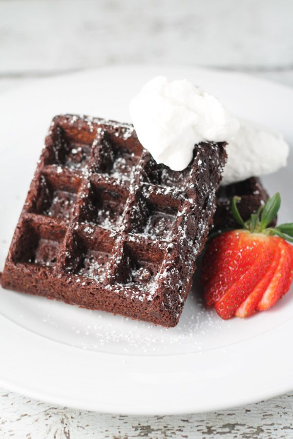 Double Chocolate Waffle Brownies - the cutest little treat for Valentine's Day!