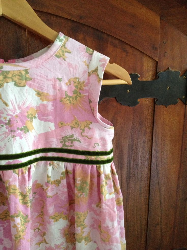 Vintage girls dress with a touch of velvet ribbon