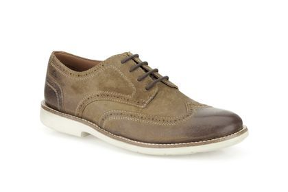 Mens Formal Shoes - Raspin Brogue in Tobacco Suede from Clarks shoes