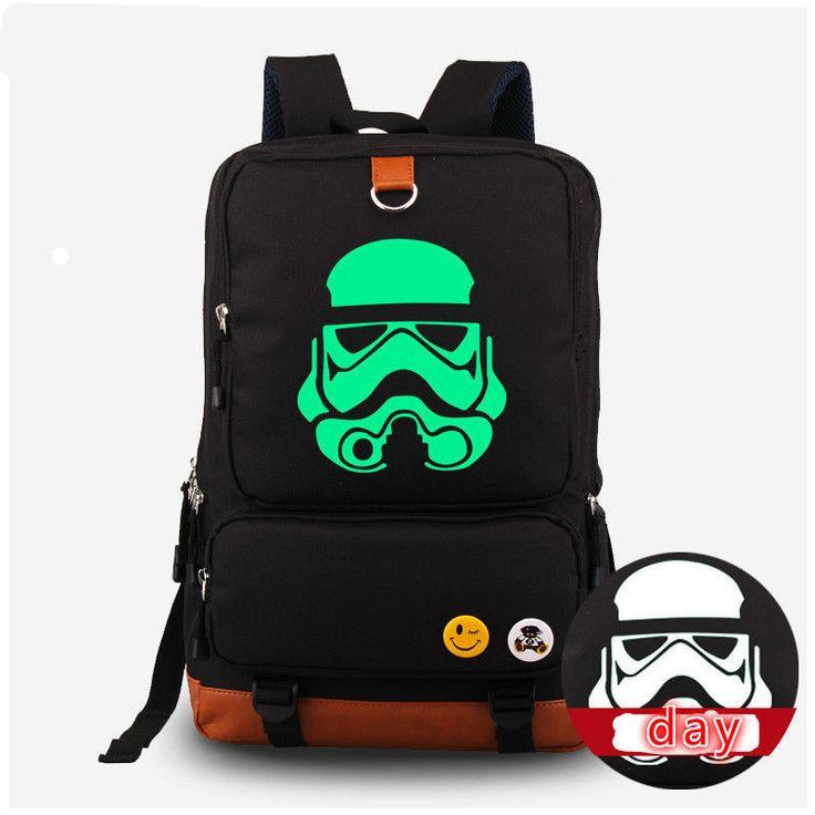 Star Wars Backpack Darth Vader Stormtrooper Backpack Noctilucence School Bag New | eBay