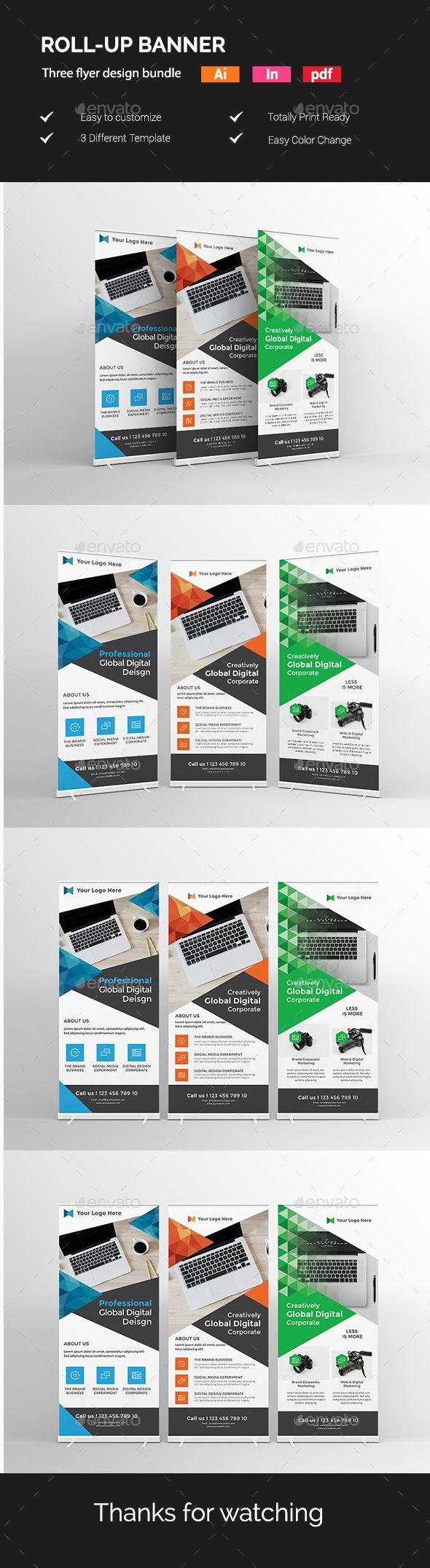 12 best roll-up design images on Pinterest | Print templates, Banner ...