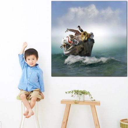 Sunny | Animals In A Boat | Canvas Print