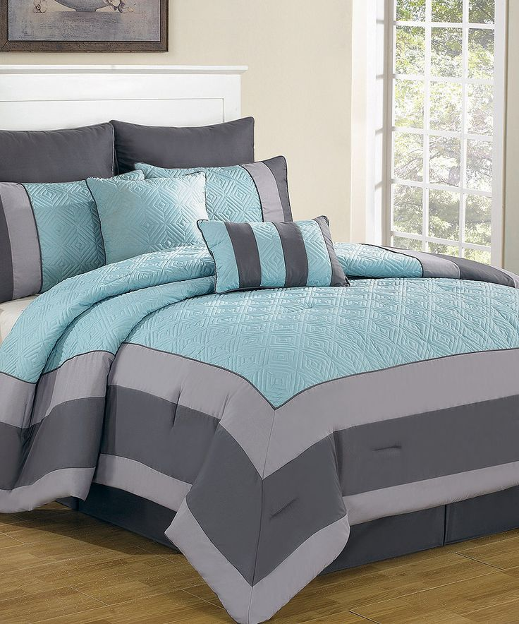 Another great find on #zulily! Blue & Smoke Spain Comforter Set by Duck River Textile #zulilyfinds