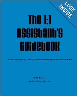 This book for learning support assistants and 1:1 aides working with individuals with autism is practical, brief and to the point. It will provide a foundation for working with individuals with autism and/or intellectual disabilities. It is good training tool for 1:1 learning aides.