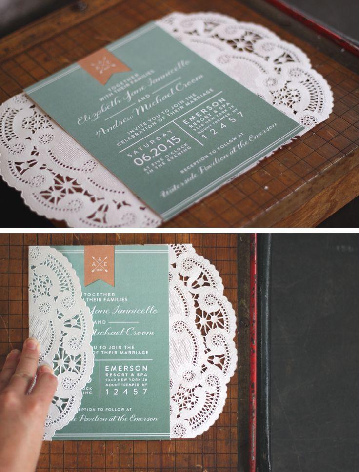 DIY Lace Wedding Invitaiton Sleeve