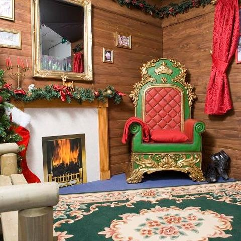 Santas throne in his Grotto.  Props