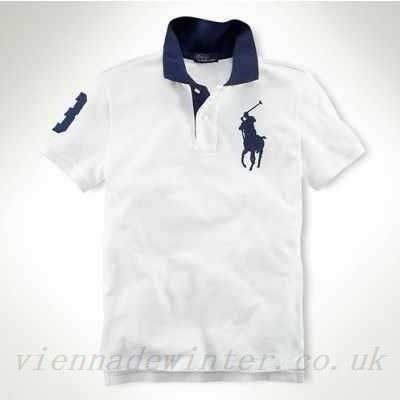 Ralph lauren childrens clothes, ralph lauren sale custom tipped collar big pony antique-white cobalt-blue #sf1000-0131, polo ralph lauren shirts for men factory outlet