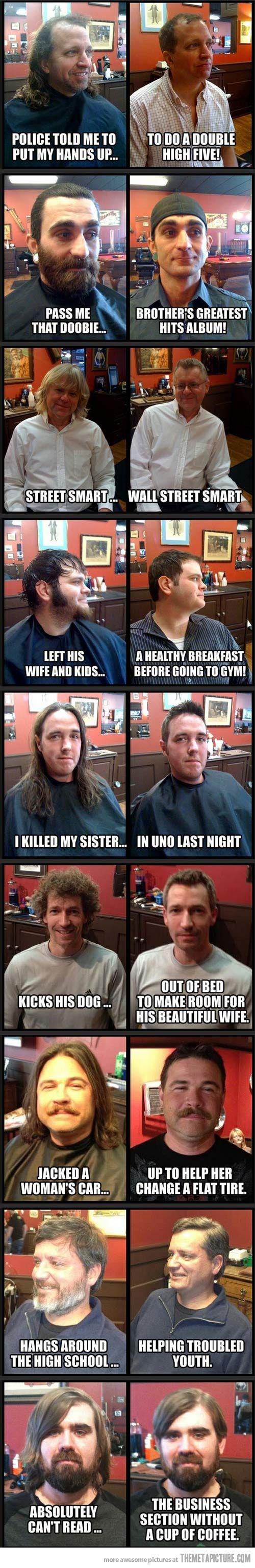 Why haircuts are important…: Shorts Hair, Hair Humor, Men Haircuts, Giggl, Long Hair, Hair Cut, Make A Difference, Funny Stuff, Hilarious