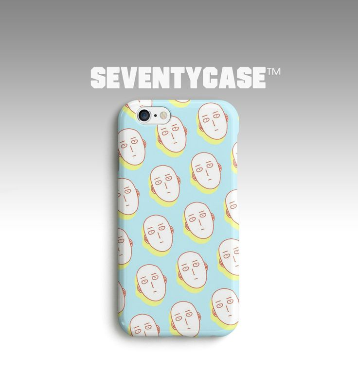 Saitama One Punch Man Anime Super Power Pattern Full Case Cover for iPhone 4/4S 5/5S 5C 6/6S Plus Samsung Galaxy S4 S5 Note4 5 SC745 by SeventyCase on Etsy