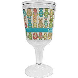 Fun Easter Bunnies Wine Tumbler (Personalized)
