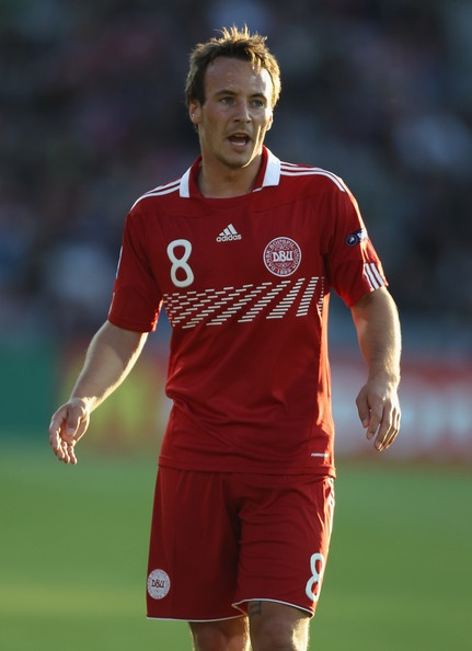 Mike Jensen of Denmark in action during the UEFA European Under-21 Championship Group A match between Denmark and Belarus at the Aarhus stadium on on June 14, 2011 in Aarhus, Denmark.   Mike Jensen, eventhough he don't play in Brøndby anymore, he will always be one of us <3