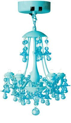 I wish I had never heard about locker chandeliers. Now I'm wondering if I can put this in my closet. Aqua Locker Chandelier