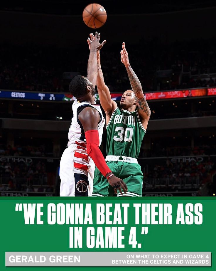 Gerald Green has only one thing in mind for the teams' next game.