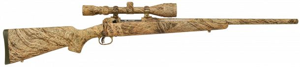 Savage Arms 110 Predator Hunter in Brush Camo, this pattern would disappear in a lot of different environments...