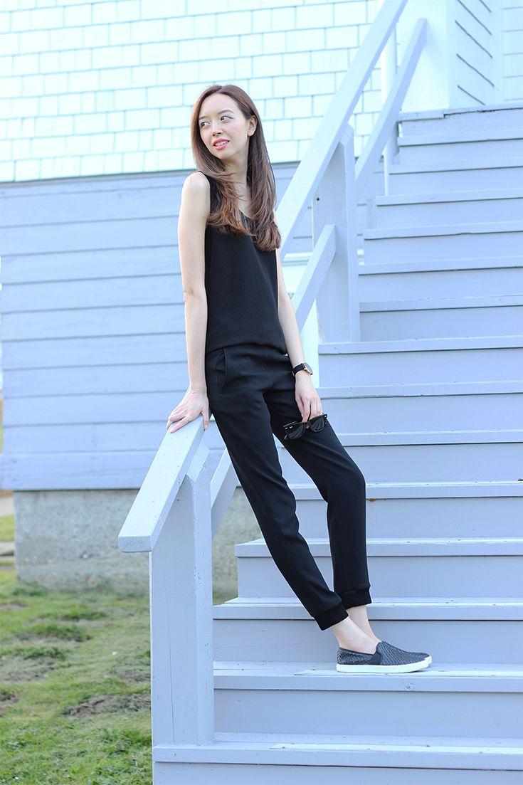 Jumpsuit - All black outfit  |  emiliechevrier.com