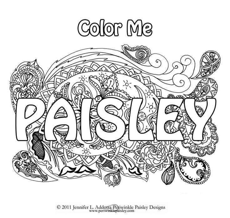 Color Me Paisley Mandala Coloring Books PeriwinklePaisley