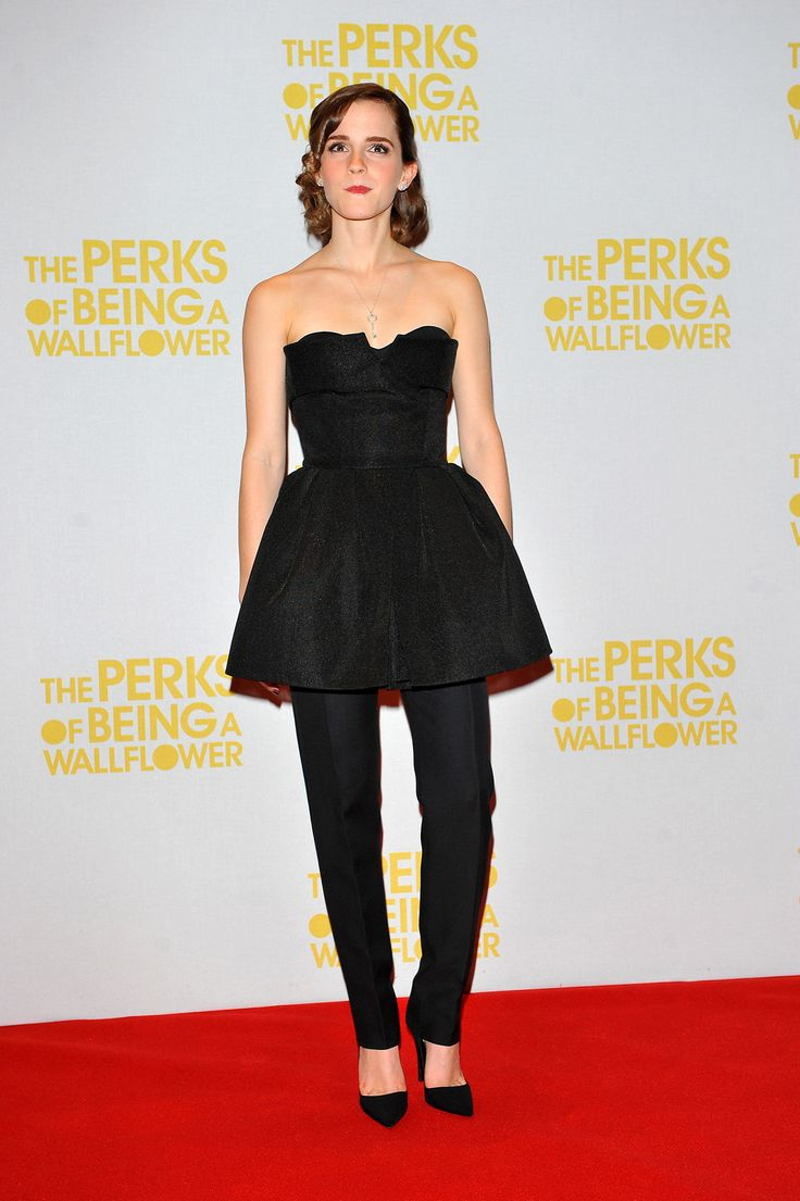 Emma Watson Shows Us How To Rock the Dresses-and-Pants Trend #LBD #redcarpet #fashiontrends #celine