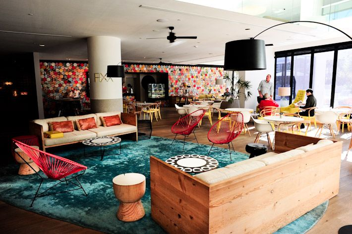 QT Hotel on the #GoldCoast describes itself as nostalgic surfer chic meets Miami catwalk cool.