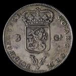 Netherlands East Indies, Dutch East India Company, 1602-1799, 3 gulden, 1786