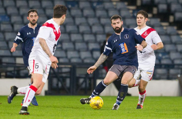 Queen's Park's Bryan Wharton in action during the Ladbrokes League One game between Queen's Park and Airdrieonians.