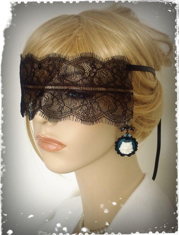 "Black Lace Mask Veil-Mysterious Masquerade Ball Eye Mask-Elegant Eyelash Lace Blindfold-50 shades of grey,Secret Party,Halloween-""ANASTASIA"" by CandiedCherrybyKC on Etsy https://www.etsy.com/listing/252421019/black-lace-mask-veil-mysterious"