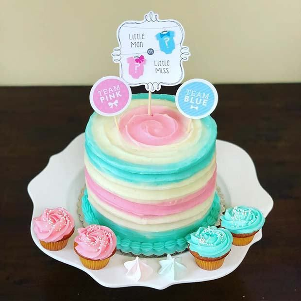 Pokemon Gender Reveal I Did With Images Baby Reveal Cakes