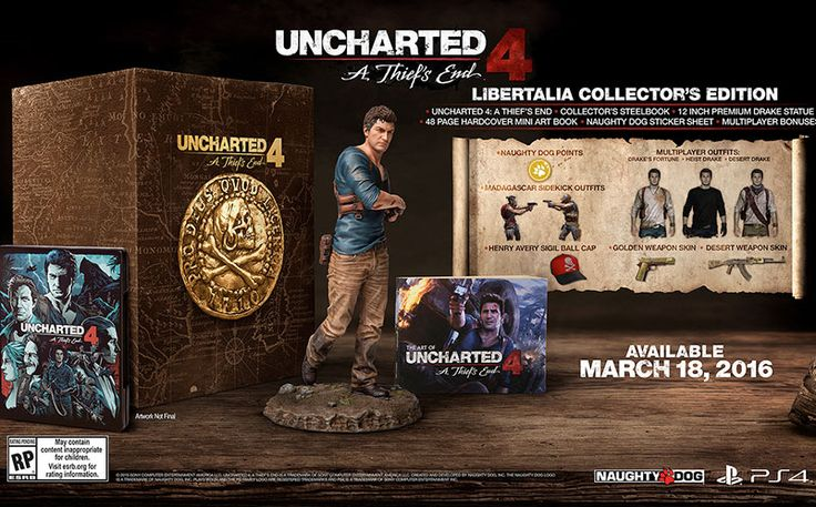 An Uncharted 4 release date has finally been given, as well as details on the Collector's Edition and Special Edition, which both can be pre-ordered now.