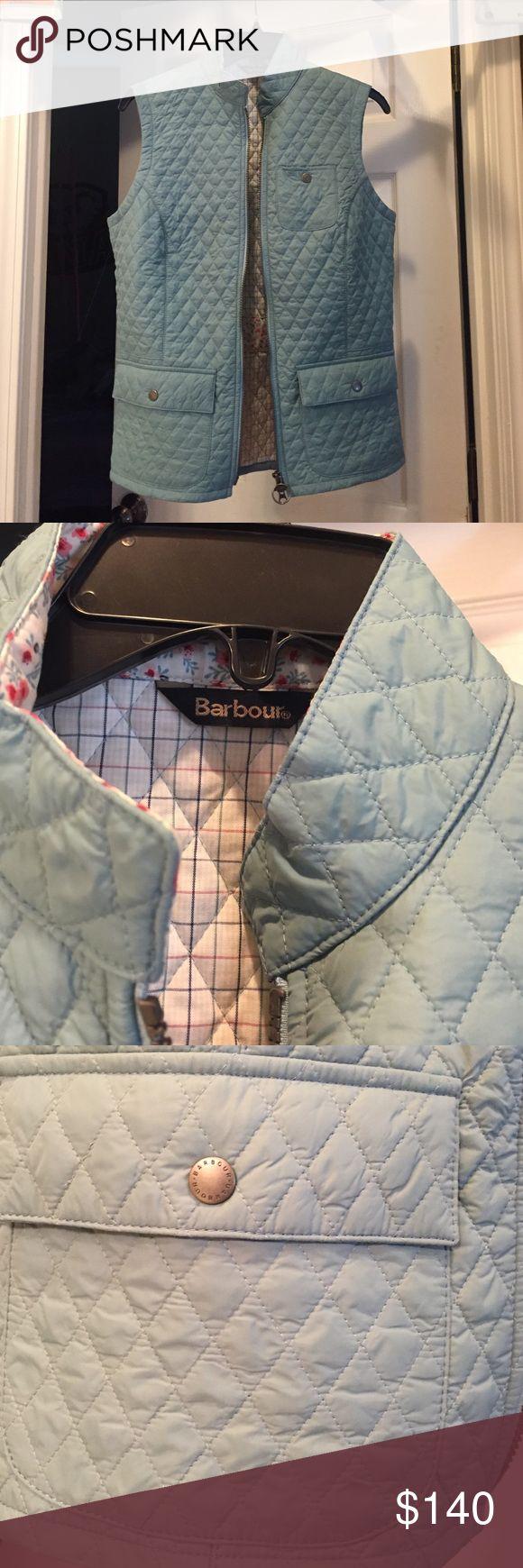Barbour vest size 8! Gorgeous vest. Does run small, fits more like a 6! Gorgeous blue color! never worn, no problems! Barbour Jackets & Coats Vests