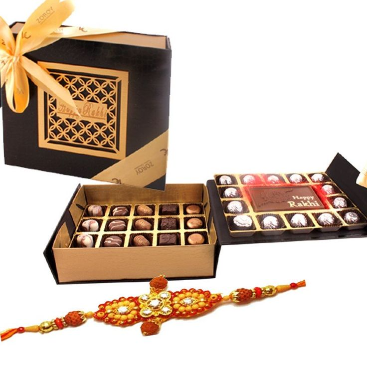 Leather Box- Rakhi special with assorted chocolates