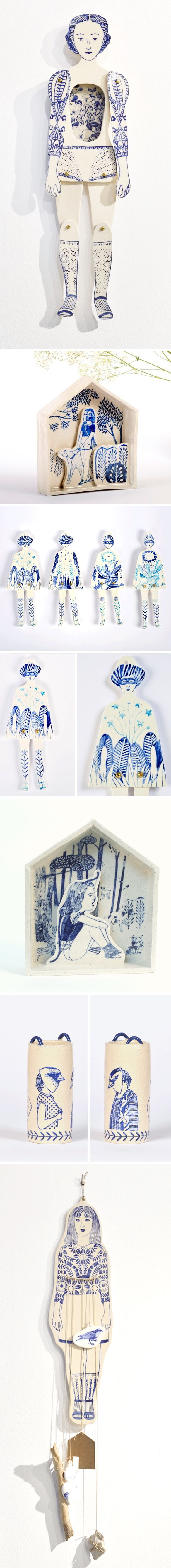 Porcelain paper dolls by Sonia Pulido - WHAT?!