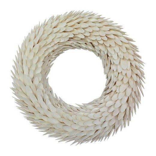 "Willow Wood Wreath (21"") - White - Smith & Hawken™"
