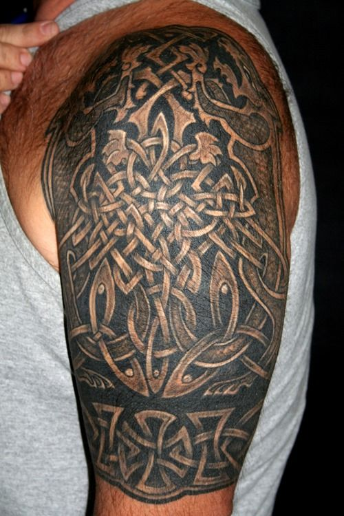 Viking Armband Tattoo Designs: 15 Best Left Arm Tattoo Added To Celtic Armband Images On