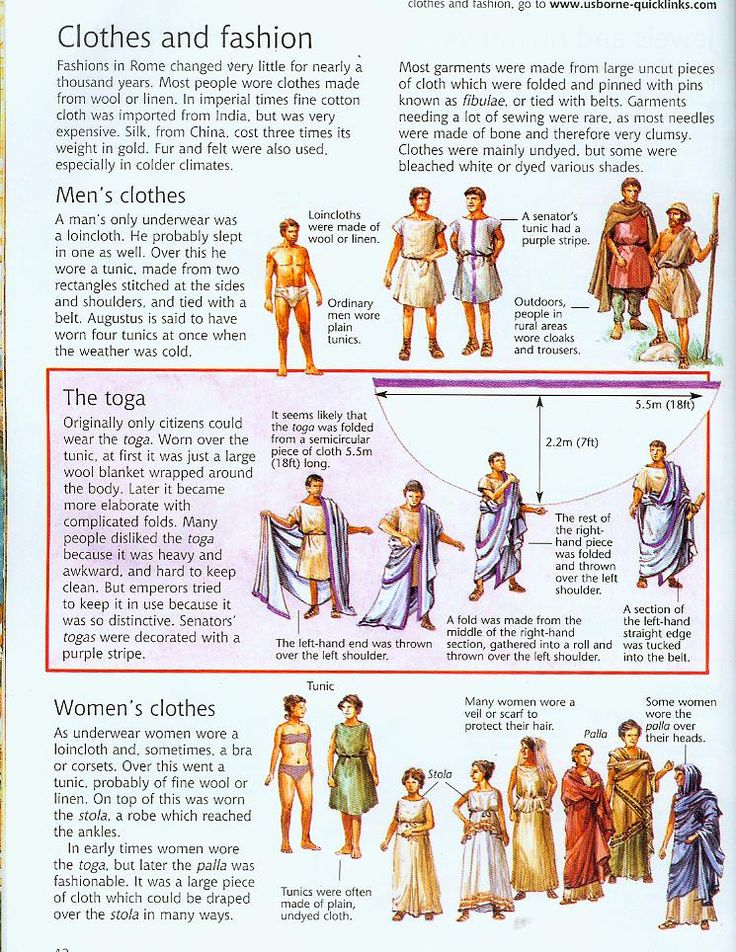 Center Fashions: roman clothes and fashion