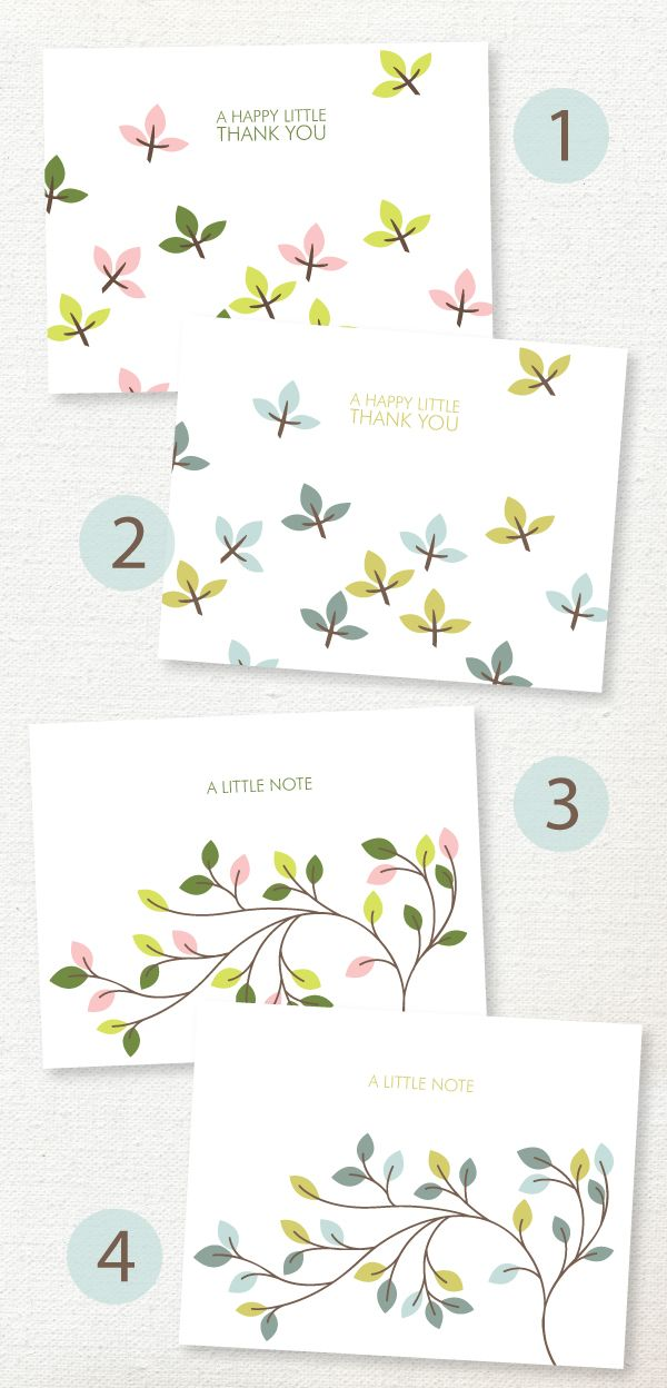 Free Printable Cards You'll Love to Send---great for teacher gifts as they always need thank you cards
