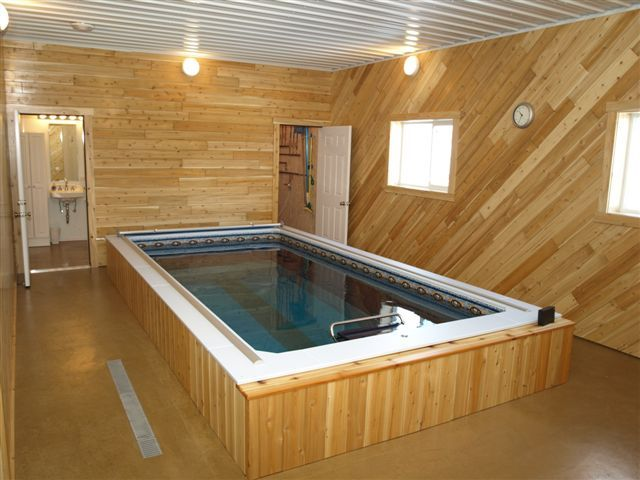 Endless pools can fit virtually anywhere swim at home for Endless pool in basement