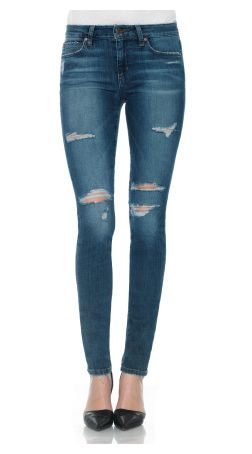 Joe's Icon Skinny in Seneka is a vintage-inspired, medium blue distressed denim. This casual skinny jean features holes, hand sanding and grinding for an authentic, one-of-a-kind look in a classic mid rise fit that flatters most body types.