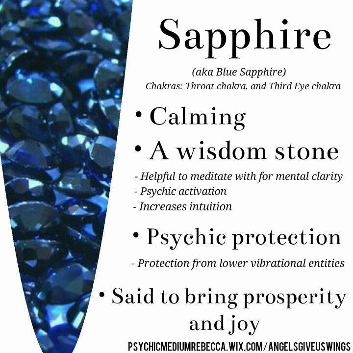 Sapphire Crystal Meaning Crystal Healing Stones Gemstone Healing Chakra Crystals