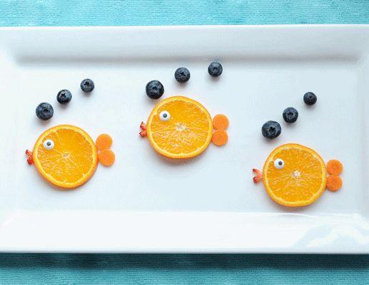 fruit fish plate
