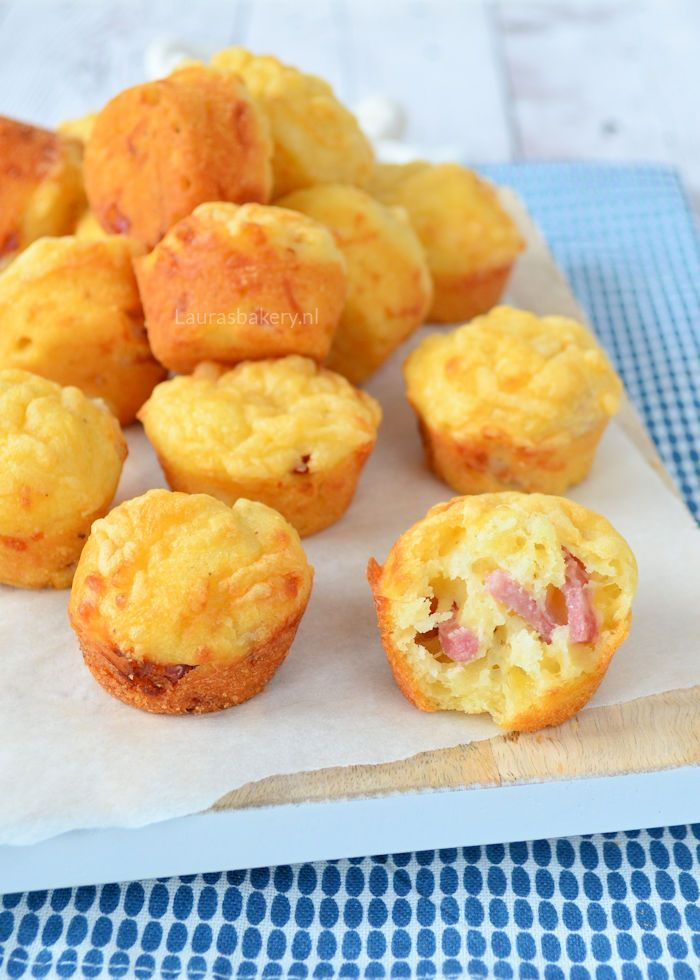 Bacon cheese muffins - Bacon-kaas mini muffins