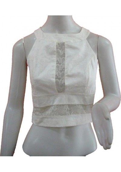 Cropped de Renda | Tamanho M  Disponível em: http://www.thaishipolito.com/top-cropped-renda