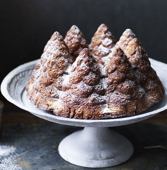 Nigella's simple vanilla cake is anything but boring. Perfect if you're not a fan of fruit cakes.