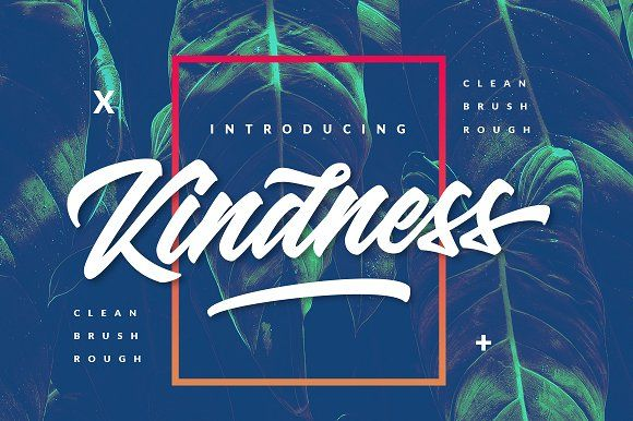 Kindness Typeface by Dirtyline Studio on @creativemarket