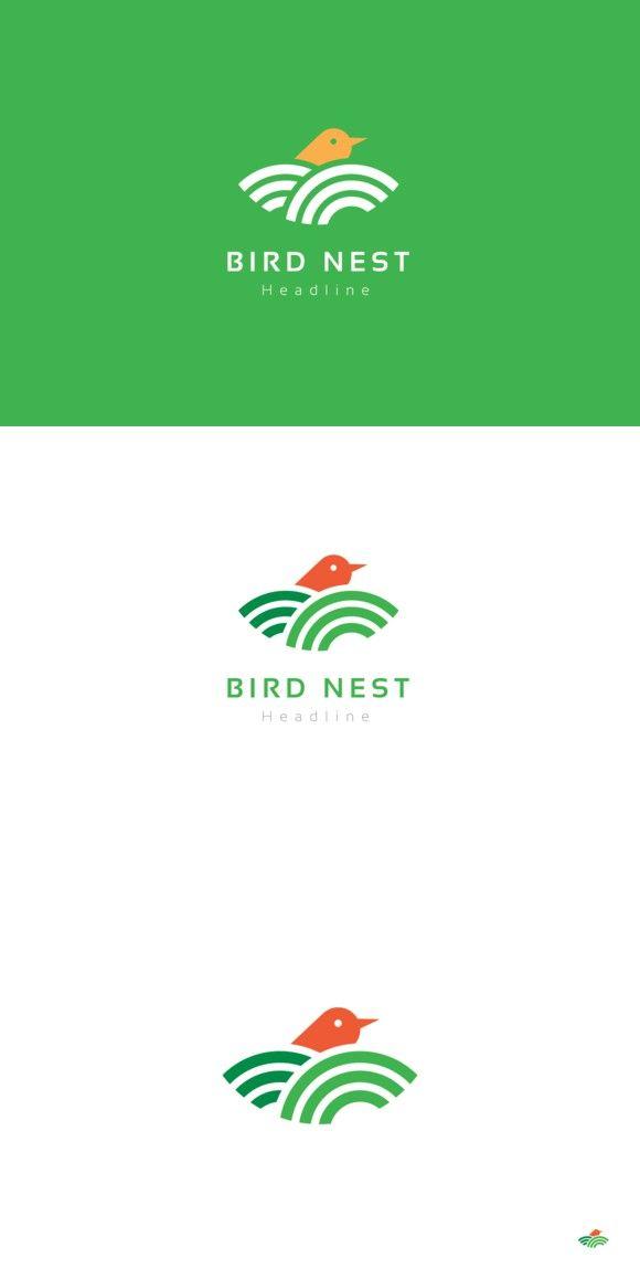 Bird nest logo.