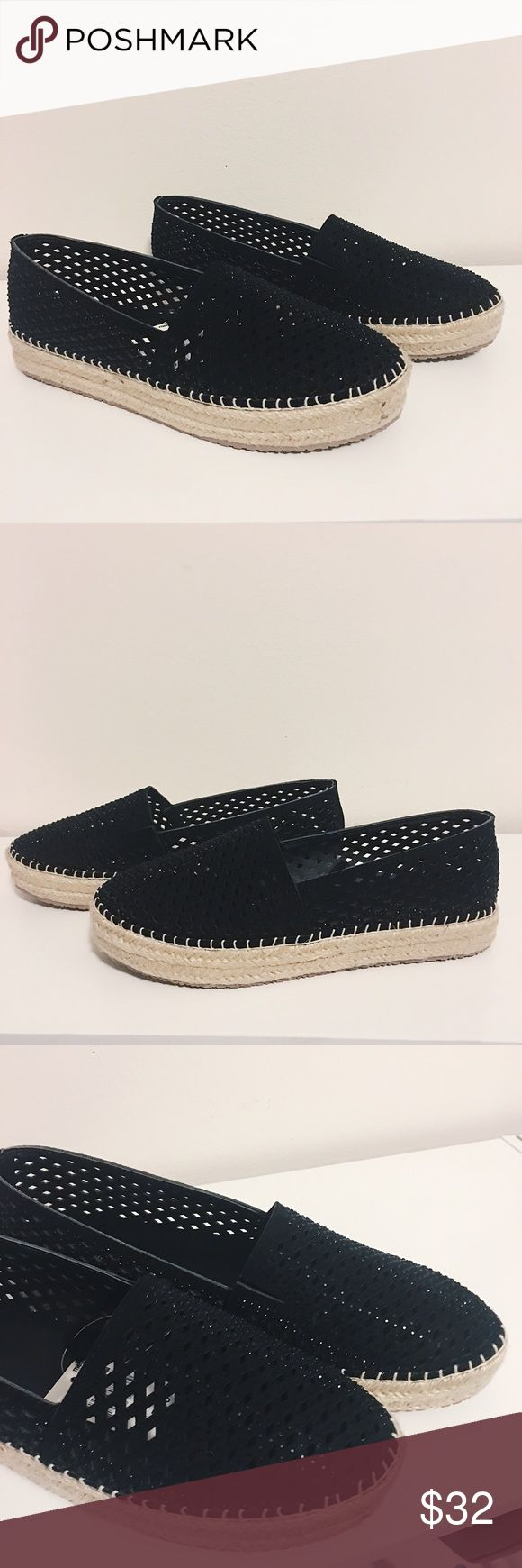 Beautiful Black Espadrilles! These beautiful black espadrilles have small subtle sequin that add a lovely touch of shimmer! Perfect for spring! Brand new, never worn! Shoes Espadrilles