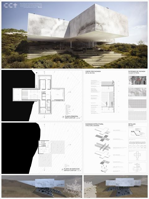 Cool architectural presentation board.