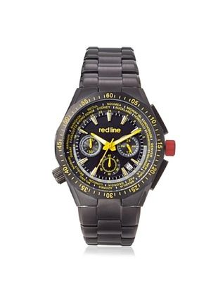 89% OFF red line Men's 50029VD-BB-11YL Travel Black Stainless Steel Watch