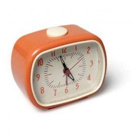 Trendy, retro kinderwekker oranje